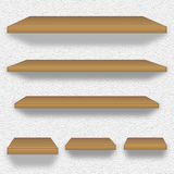 Wooden shelves. Set of wooden shelves royalty free illustration