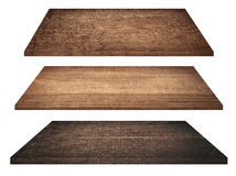 Wooden shelves, tabletop or cutting board isolated Royalty Free Stock Photo
