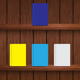 Wooden Shelves vector illustration Royalty Free Stock Photography