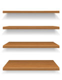 Wooden shelves vector illustration Stock Images
