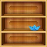 Wooden shelves vector illustration Stock Images