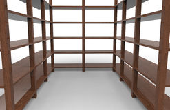 Wooden shelving Royalty Free Stock Photo