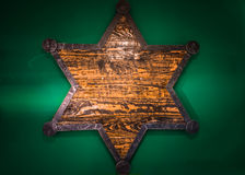 Wooden Sheriff Star Royalty Free Stock Image