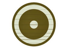 Wooden shield Stock Photography