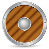 Wooden shield Royalty Free Stock Photos