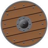 Wooden shield Stock Image