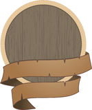 Wooden shield with rope detail Stock Photo