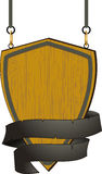 Wooden shield sign with rope detail Royalty Free Stock Photography