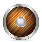 Wooden shield Royalty Free Stock Image