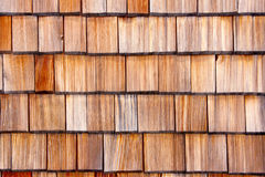 Wooden shingle background Stock Images
