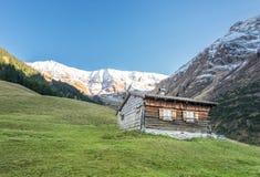 Wooden shingle cabin hut Stock Image