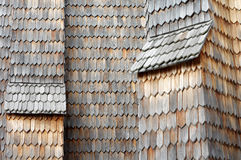 Wooden shingle old Royalty Free Stock Photos