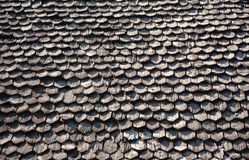 Wooden shingle on the roof. Wooden roof Stock Photography