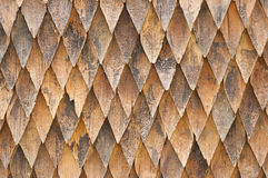 Wooden shingle roof. Wooden shingle roof as background Royalty Free Stock Photography