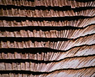 Wooden shingle roof Stock Photography