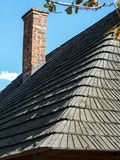 Wooden shingle roof Royalty Free Stock Image