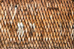 Wooden shingle surface Stock Photography
