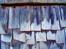 Wooden Shingle Tiles Royalty Free Stock Photo