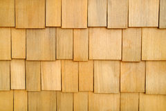 Wooden Shingle Wall Background stock photos
