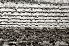 Wooden Shingled Roof Stock Photo