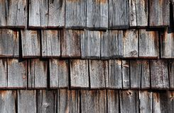 Wooden shingles Stock Images