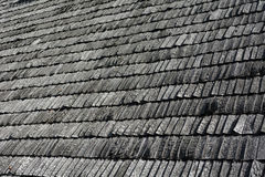 Wooden Shingles. Abstract wooden texture of roof shingles Royalty Free Stock Image