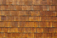 Wooden shingles background Stock Image