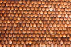 Wooden Shingles Background Pattern. Wooden Shingles of wall siding of historic Black Forest farmhouse, Germany, Europe Royalty Free Stock Photos