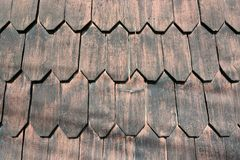 Wooden shingles Stock Photos