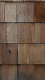 Wooden Shingles 2. Close up of wooden shingles Royalty Free Stock Images