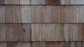 Wooden Shingles 1. Close up of wooden shingles Royalty Free Stock Photos