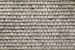Wooden shingles. A photo of a roof with wooden shingles Royalty Free Stock Photos
