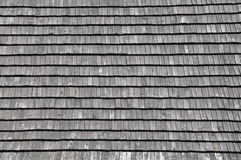 Wooden shingles on the roof Royalty Free Stock Images
