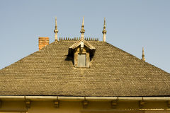 Wooden shingles roof Royalty Free Stock Photography