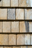 Wooden shingles roof pattern Stock Image