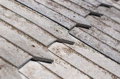 Wooden shingles Stock Photography