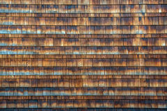 Wooden shingles on side of a building Stock Images