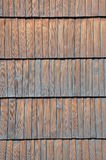 Wooden shingles surface Royalty Free Stock Images