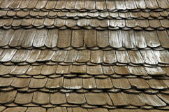 Wooden background. Wooden shingles texture Royalty Free Stock Photography