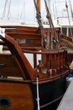 Wooden ship. Detail of an ancient wooden sailing ship stock photos