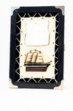 Wooden Ship Figurine Stock Photos