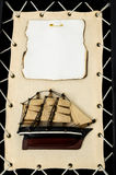 Wooden Ship Figurine Royalty Free Stock Photos