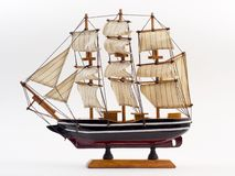 Wooden ship figurine Stock Image