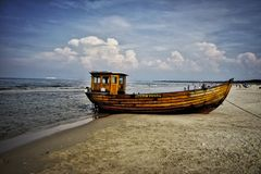Wooden ship Royalty Free Stock Images