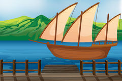 A wooden ship Royalty Free Stock Image