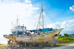 The wooden ship Stock Images
