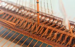 Wooden ship model. Stock Photo