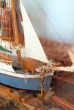 Wooden ship model. Royalty Free Stock Photos