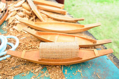 Wooden ship models royalty free stock photo