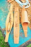 Wooden ship models. royalty free stock images